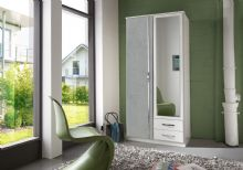 Juno 2 Door Mirrored Roble with Drawers